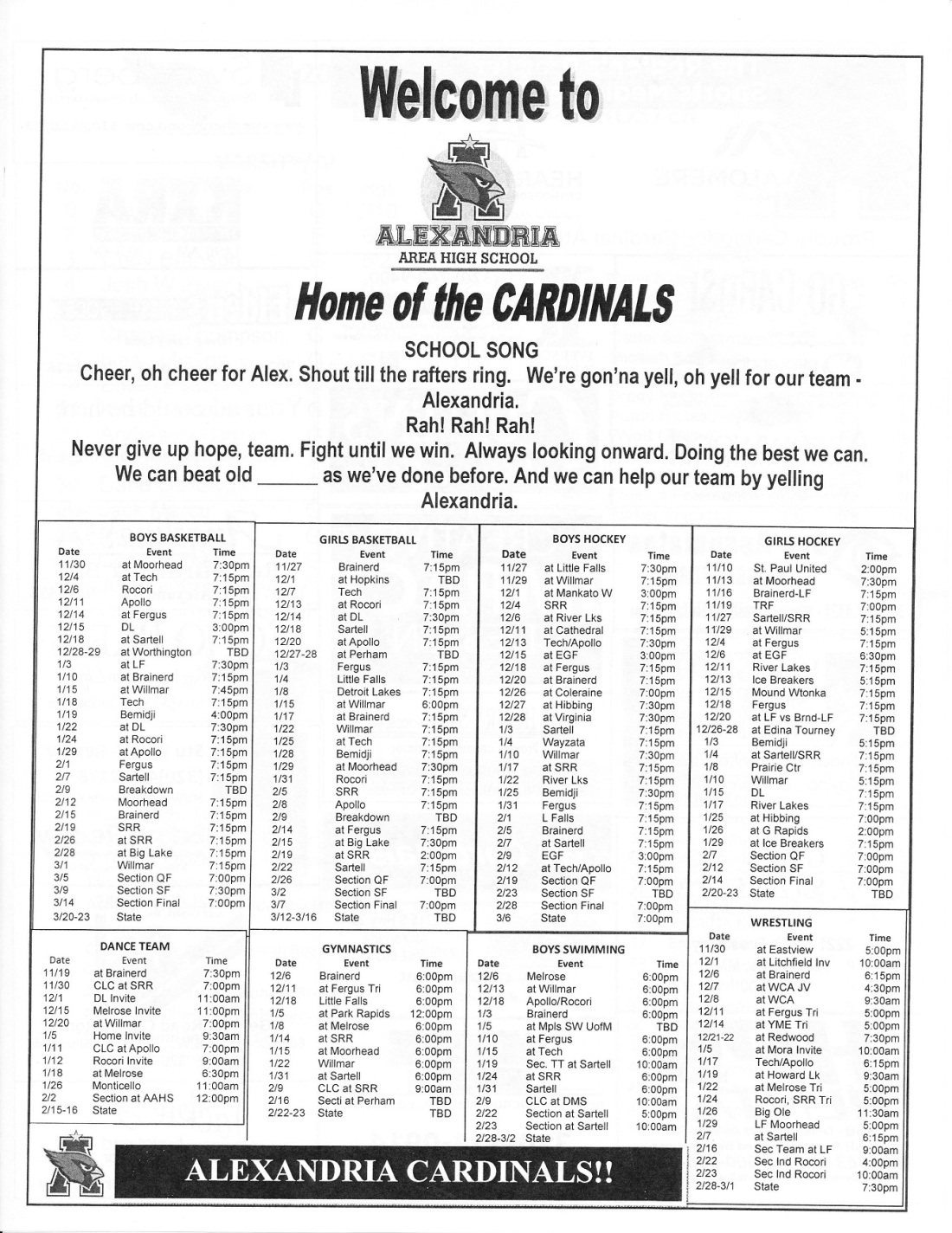 schedule '17-18 - Copy